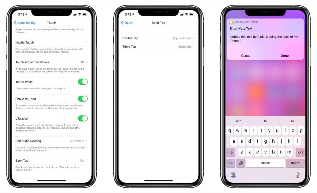 iPhone riconosce i tocchi sul retro grazie ad iOS 14