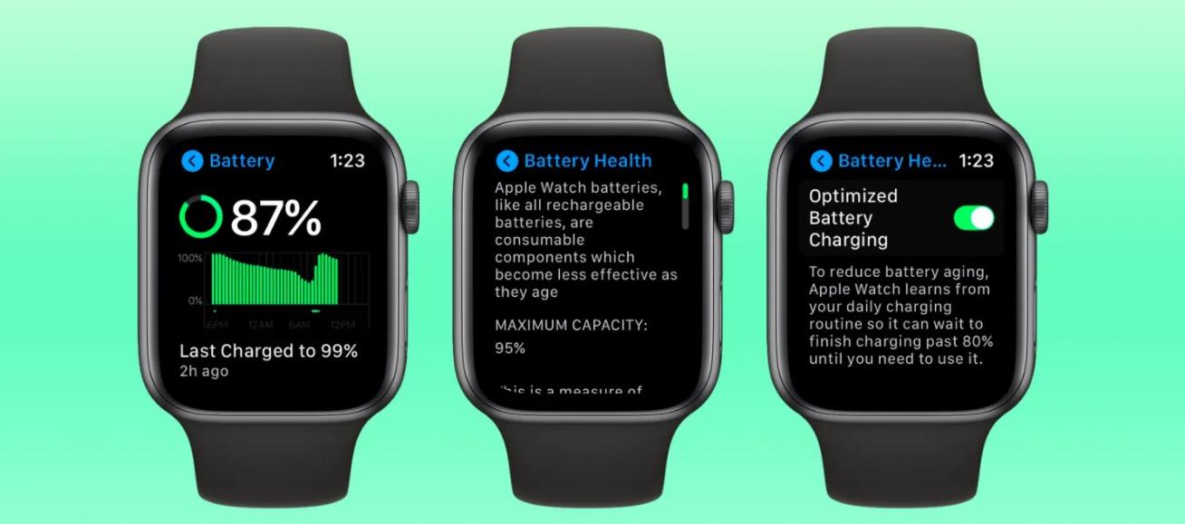 Anche watchOS 7 aggiunge la gestione dello stato batteria Apple Watch