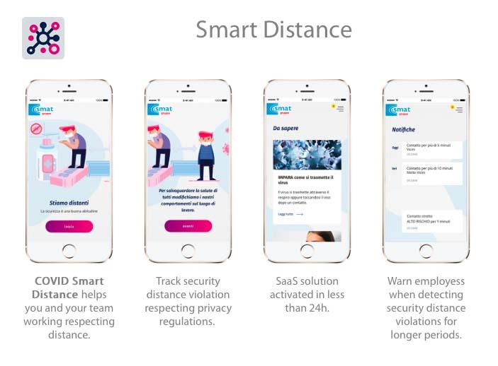 """""""Costanza"""" è l'app per la distanza da abbinare a un badge o braccialetto"""