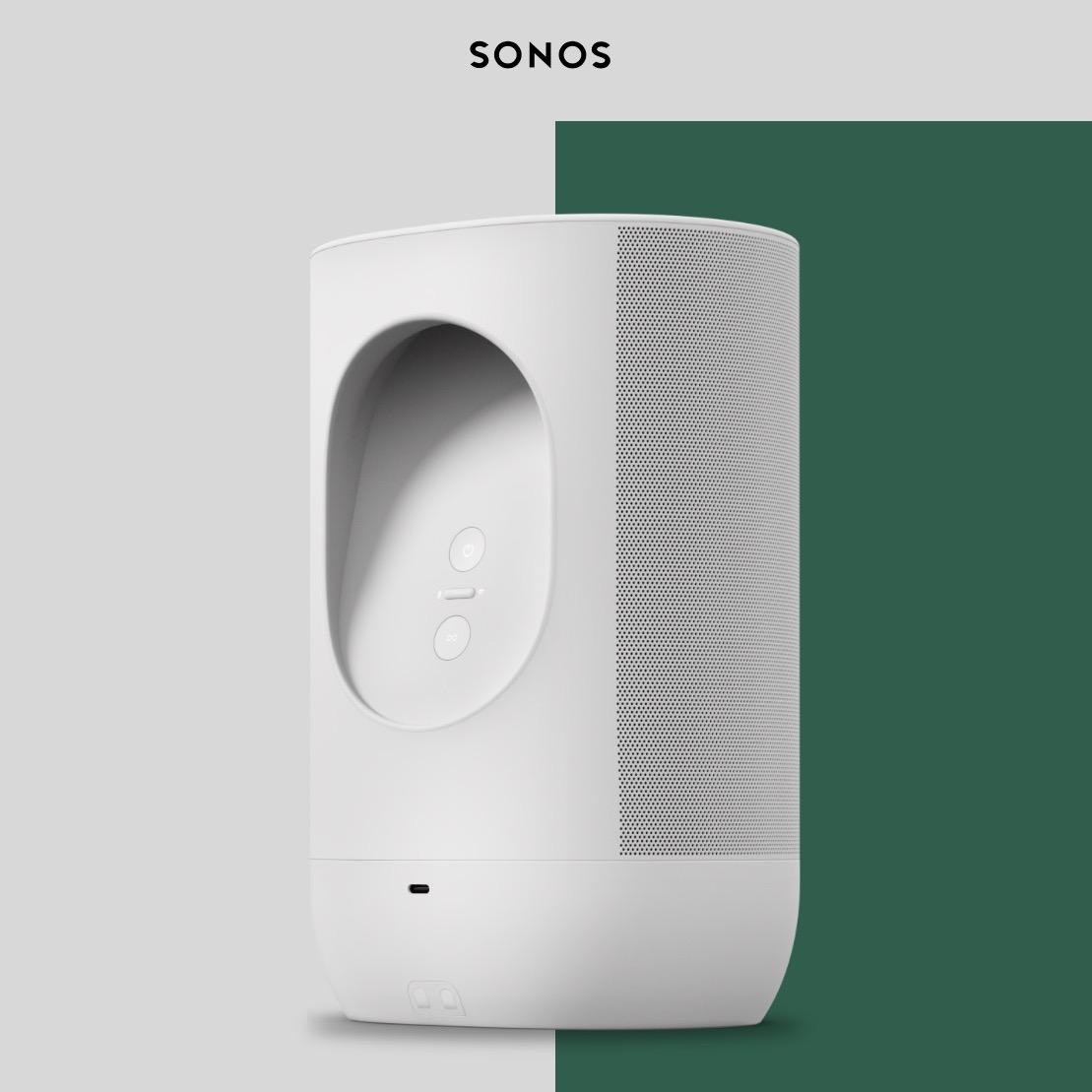 Sonos Move ora si muove anche in bianco lunare e migliora la batteria