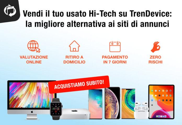 Vendi il tuo usato Hi-Tech in pochi minuti, senza rischi e incassando denaro: TrenDevice è la migliore alternativa ai siti di annunci