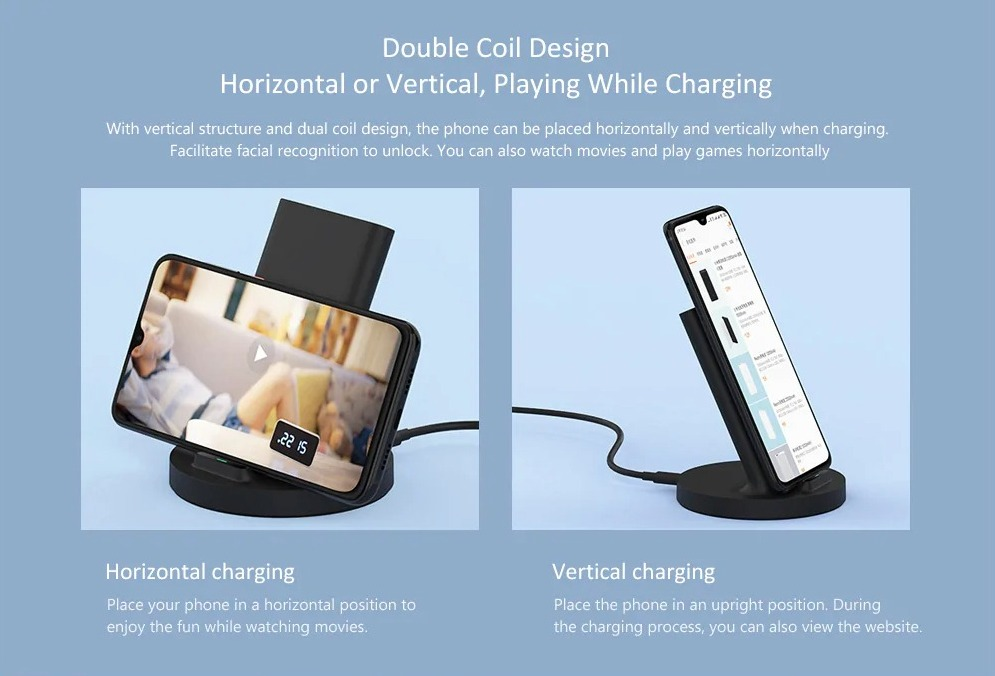 Da Xiaomi il caricatore wireless a 20W per smartphone con doppia bobina di ricarica