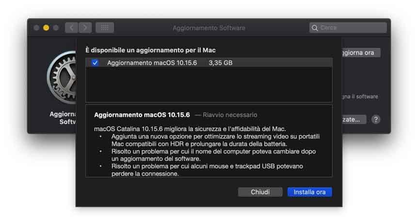 Disponibile l'update a macOS 10.15.6: risolto bug con USB e altro ancora