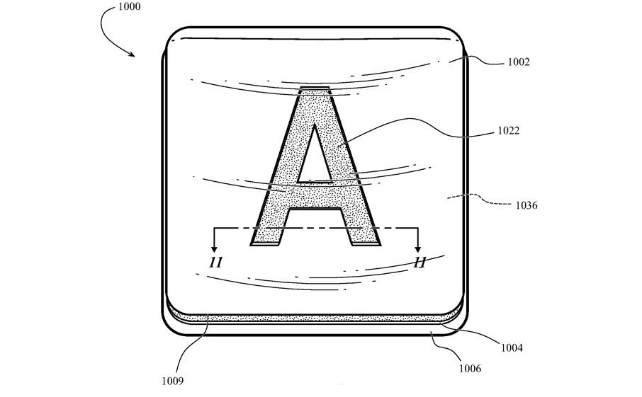 In un brevetto di Apple una tastiera con tasti di vetro colorati con la retroilluminazione
