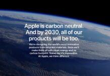 Apple ridurrà a zero le emissioni totali di gas serra entro il 2030