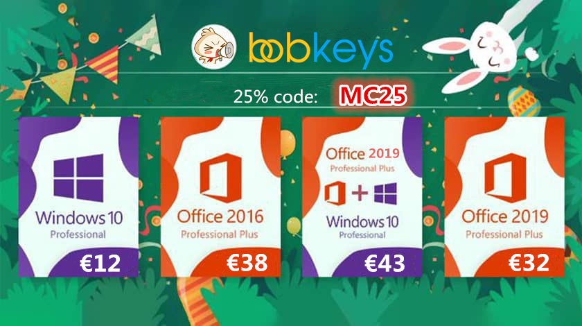 Microsoft Windows 10 Home a soli 11 € e sconto del 25% su Office e molti altri software