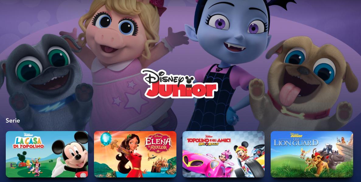 Disney+, la programmazione di film, serie tv e documentari per bambini