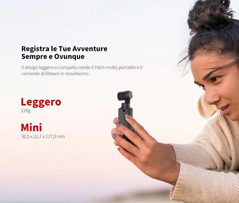 Xiaomi FIMI PALM, il gimbal con camera clone del DJI Osmo Pocket a soli 130 €