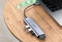 Ugreen 70410, hub USB-C con HDMI, USB-A e lettori di schede a soli 18,49 euro