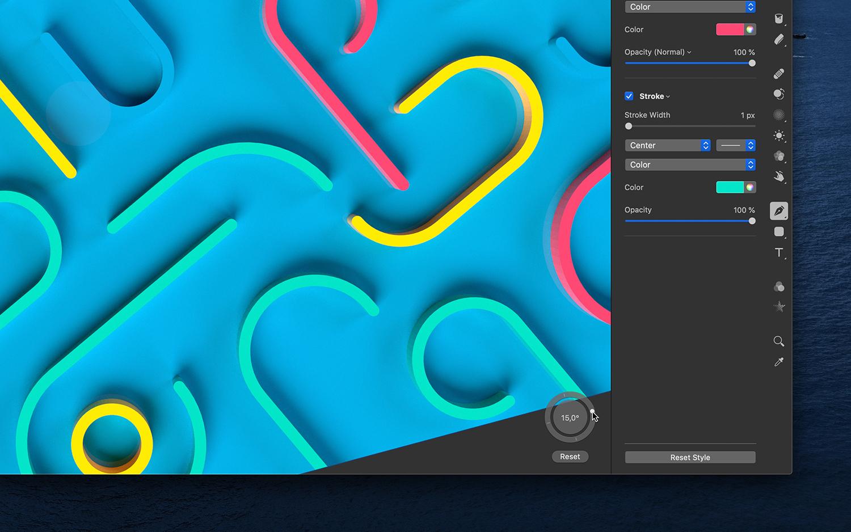 Pixelmator Pro 1.7 ora con testo su un percorso e altre novità