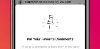 Instagram, arriva la funzione Pin per i commenti