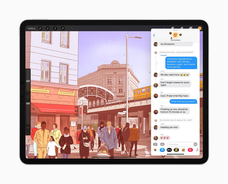 Messaggi su iPadOs 14