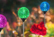Quattro lampade da giardino a palloncino in sconto del 70%
