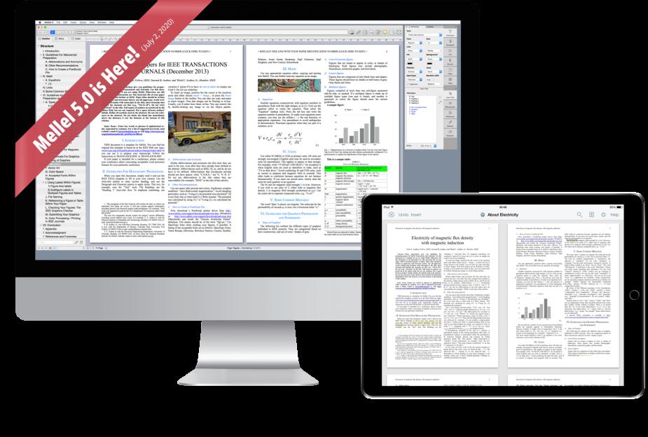 Il word processor Mellel 5 ora supporta l'esportazione in formato ePUB e DOCX