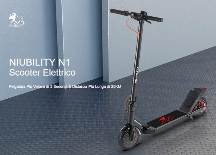 NIUBILITY N1, il nuovo monopattino che batte tutti i record di prezzo: con codice sconto a 232 euro