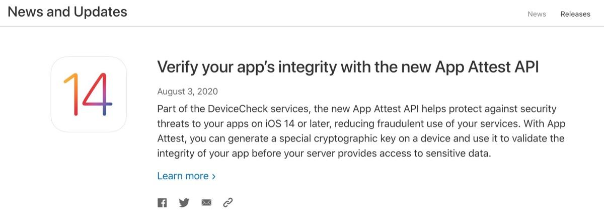 App Attest, la nuova API per iOS 14 che vuole ridurre le frodi sulle applicazioni