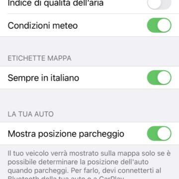 Come trovare l'auto parcheggiata con l'app Mappe di Apple