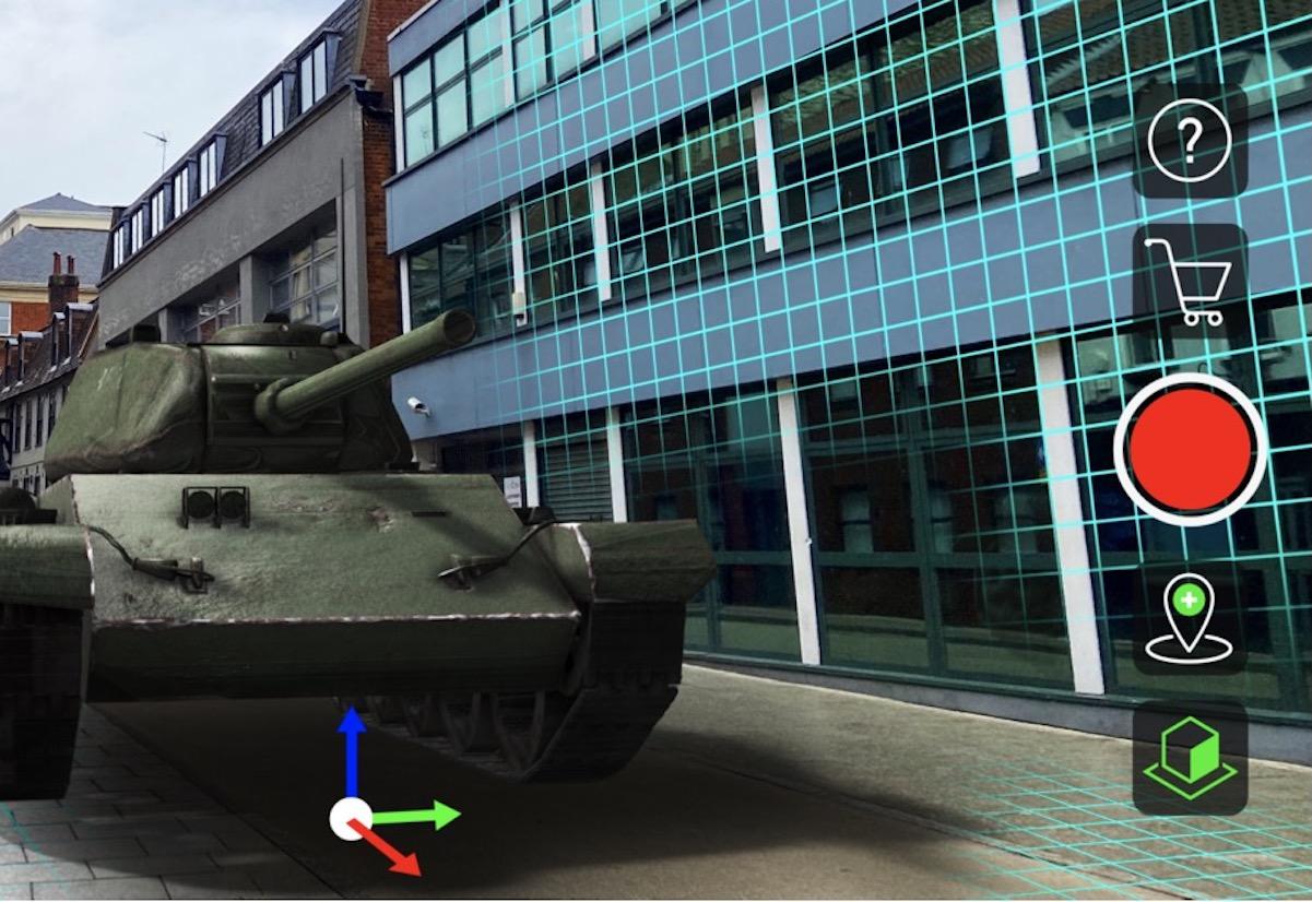 CamTrackAR usa iPhone e iPad per filmare scene e sovrapporre oggetti 3D in AR