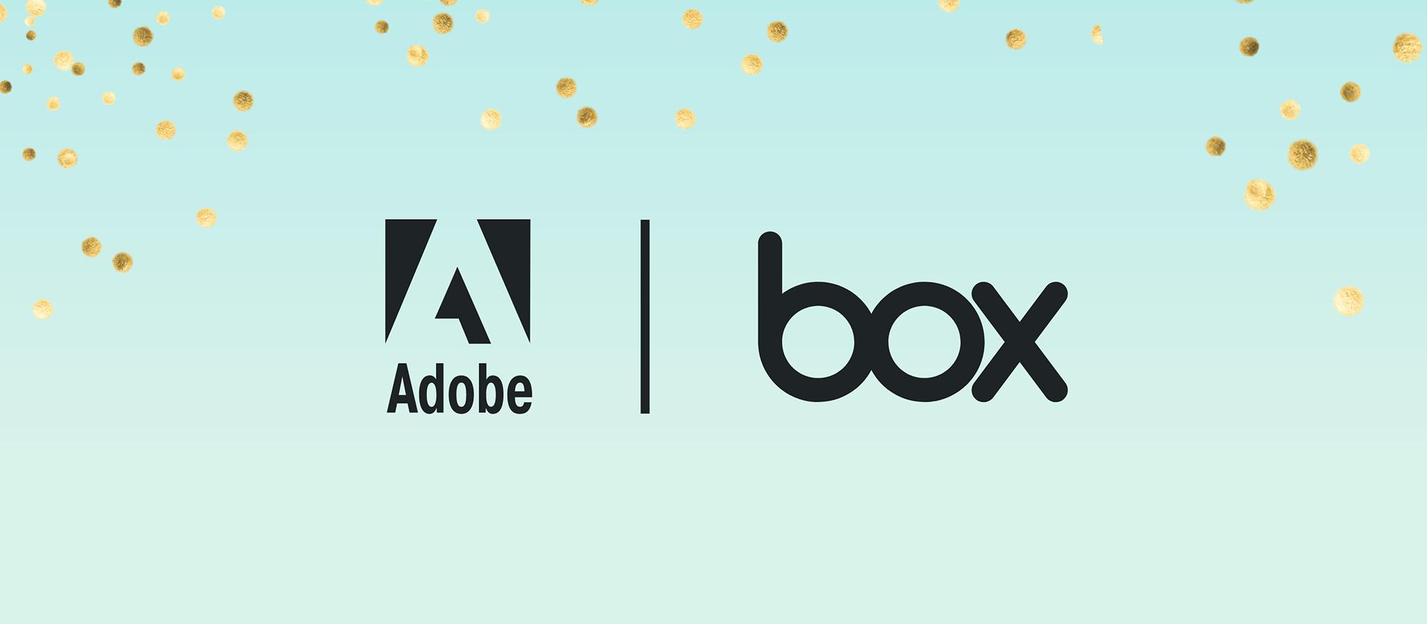 Adobe e Box semplificano la creazione e la modifica di PDF nel cloud