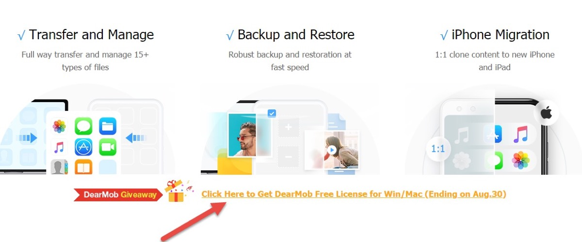 Gratis DearMob iPhone Manager, il software definitivo per back up di iPhone e iPad