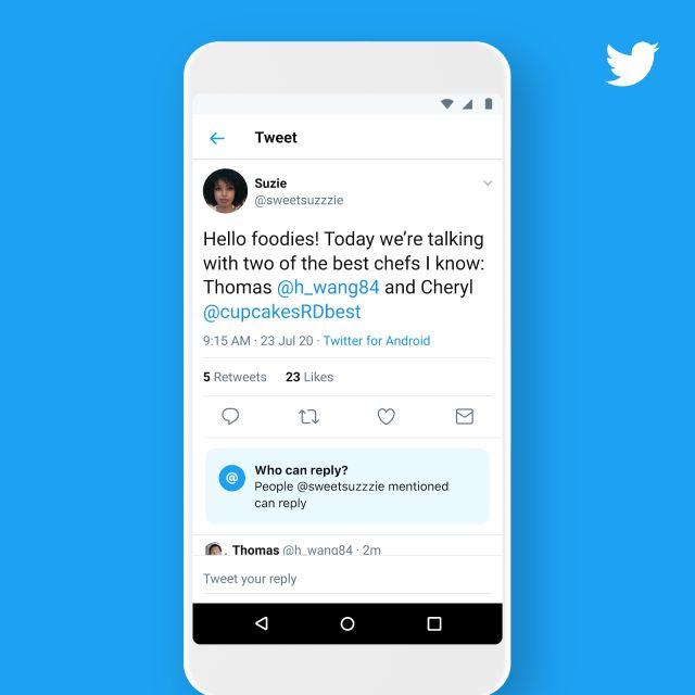 Twitter rilascia la sua funzione per limitare le risposte ai tweet