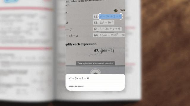 Google Lens permetterà di risolvere i problemi di matematica con una foto