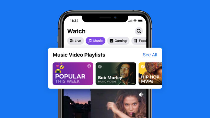 Video musicali su Facebook nel feed Notizie e su Watch