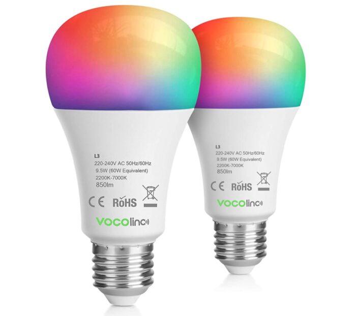 VOCOlinc WLAN, coppia di lampadine Smart in sconto a 33,59 euro