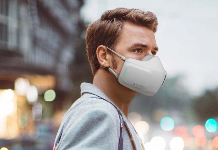 La mascherina LG purifica l'aria come i purificatori domestici