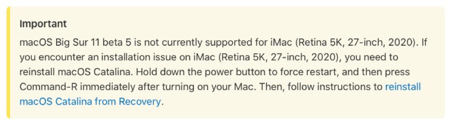 Apple rilascia macOS Big Sur beta 5 agli sviluppatori