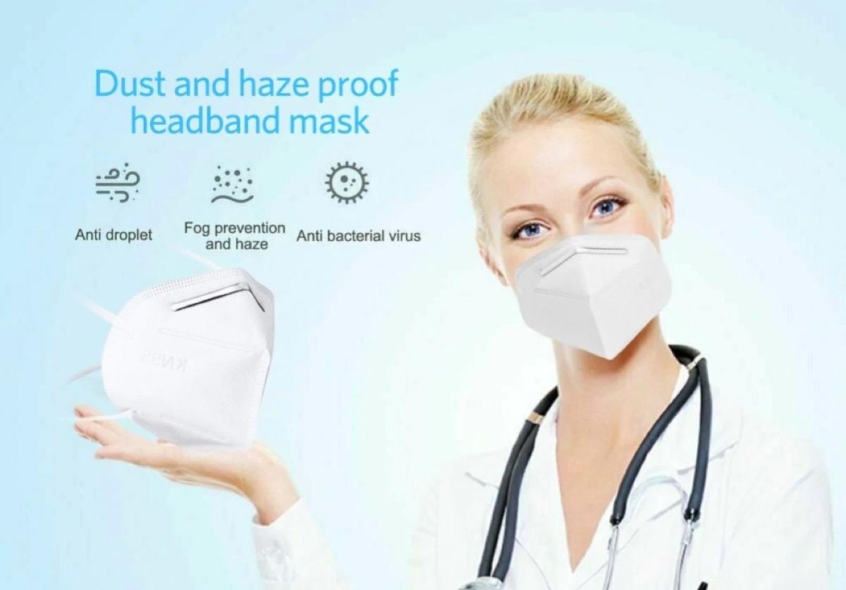 Meno di 1 € l'una per mascherine KN95 (FFP2) con spedizione gratis