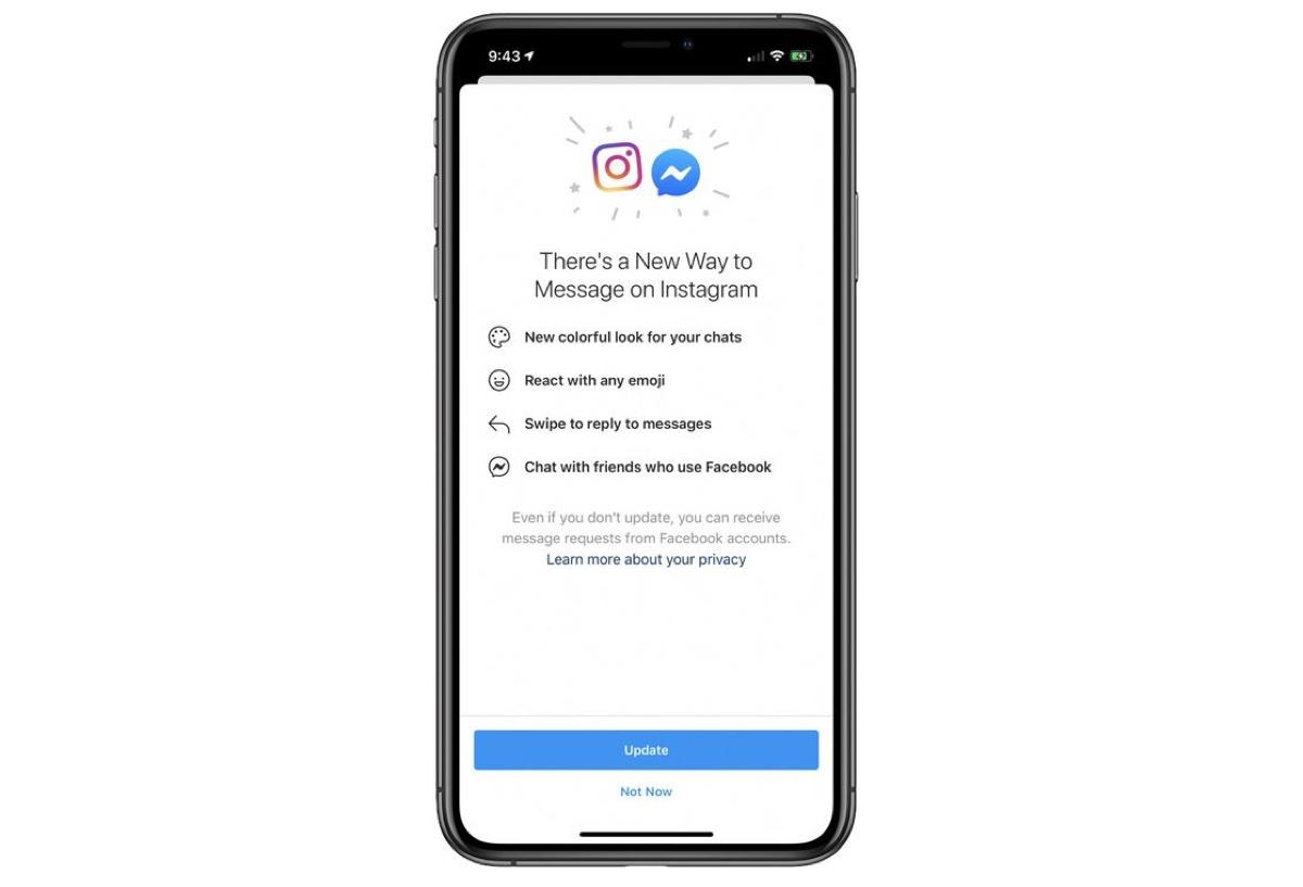 Facebook unifica Messenger con i messaggi di Instagram
