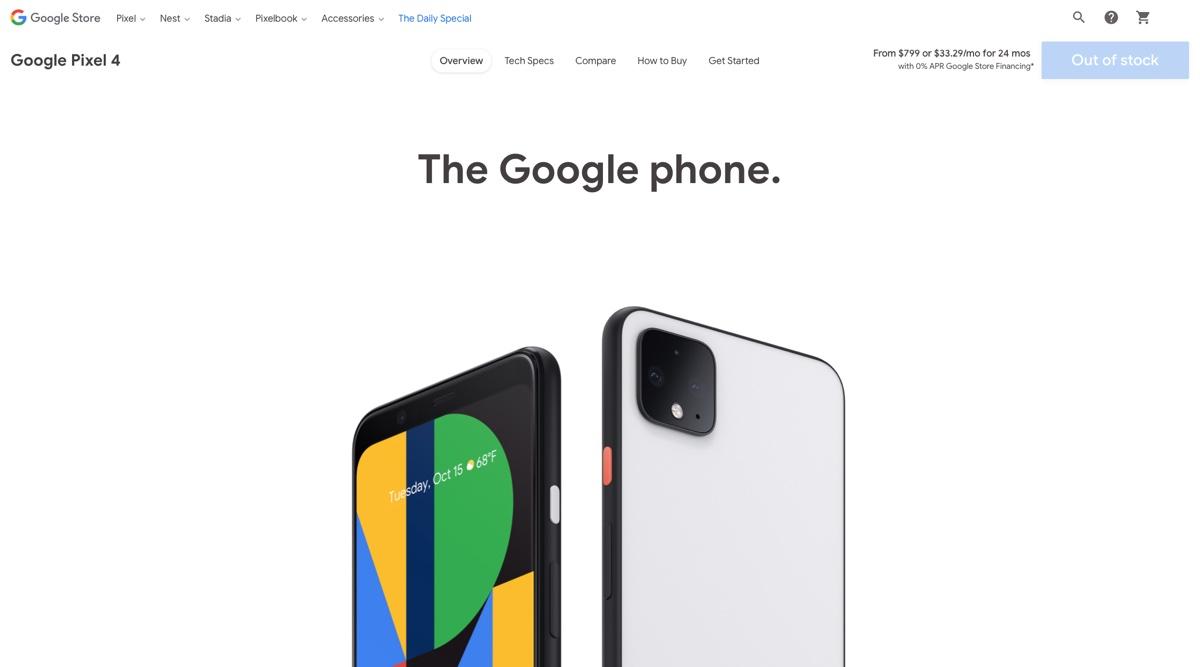 Pixel 4 e 4 XL vendono così poco che Google li ha già rimossi in USA