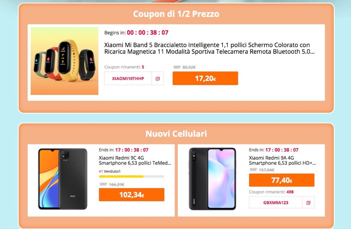 Sconti Xiaomi: tutto a metà prezzo fino al prossimo 20 agosto