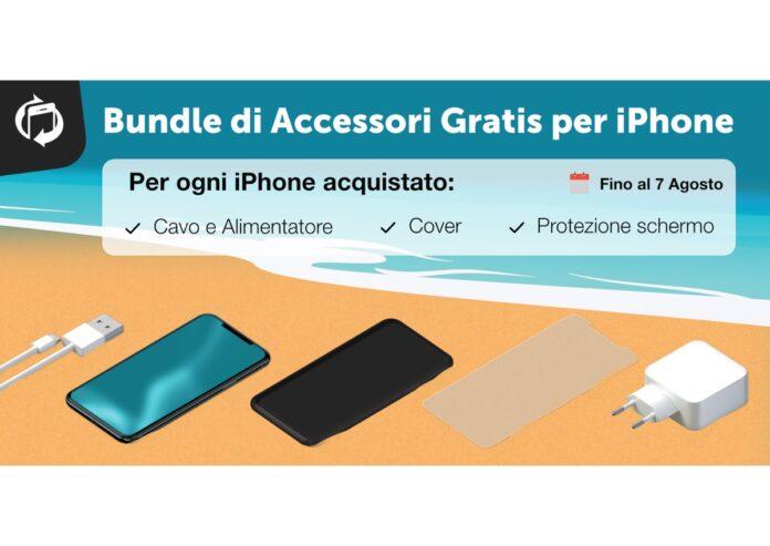 Ricevi gratis un bundle di accessori per iPhone. TrenDevice lo regala se acquisti un iPhone Ricondizionato entro il 7 Agosto
