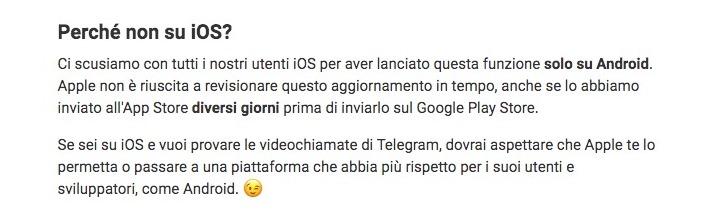 Dopo 7 anni finalmente le videochiamate arrivano su Telegram. Ma solo su Android.