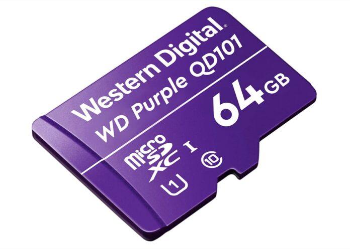 WD Purple Ultra-Endurance, la microSD per 4K e intelligenza artificiale