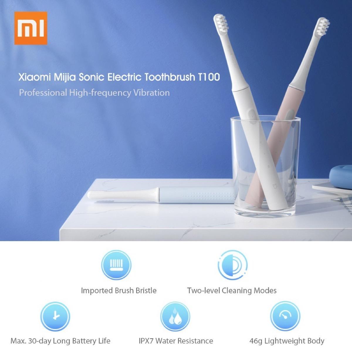Xiaomi Mijia T100, solo 6 € per lo spazzolino elettrico sonico più economico di sempre