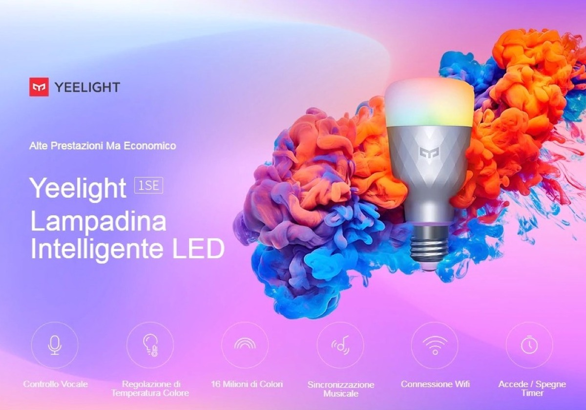 Yeelight 1SE, 13 € per la lampadina smart compatibile con ecosistema Xiaomi e assistenti vocali