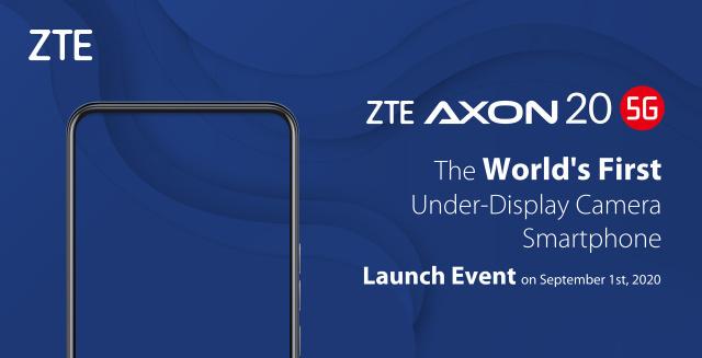 ZTE Axon 20 5G sarà il primo con fotocamera sotto lo schermo
