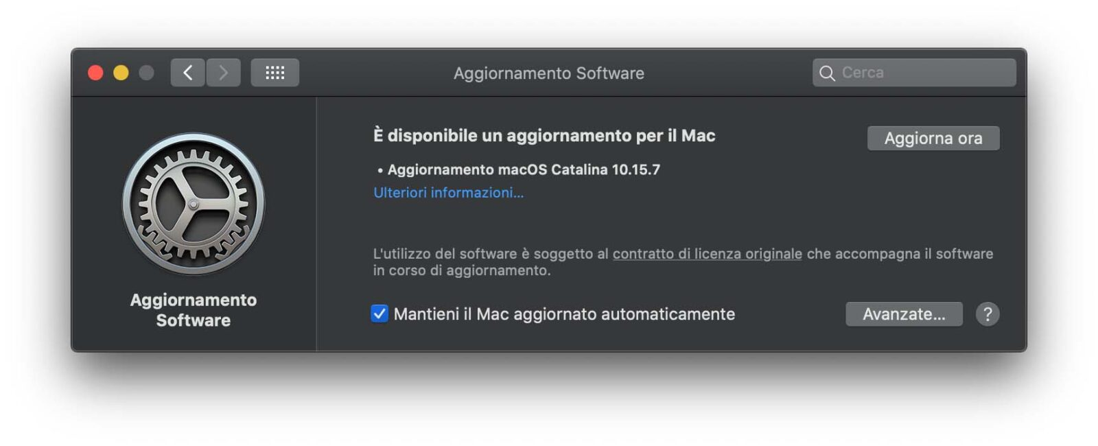 Disponibile update a macOS 10.15.7: risolto problema con scheda video iMac 27″