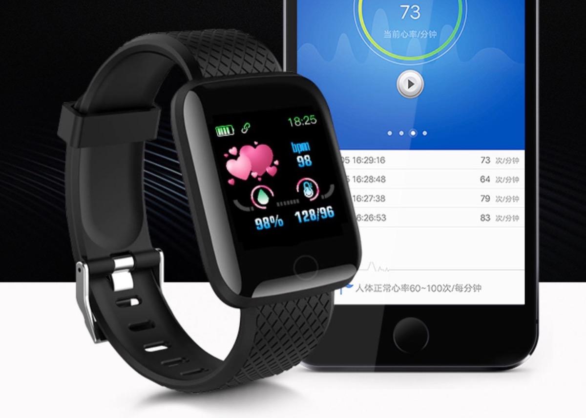 116 Plus, lo smartwatch che misura anche la pressione a meno di 7 euro