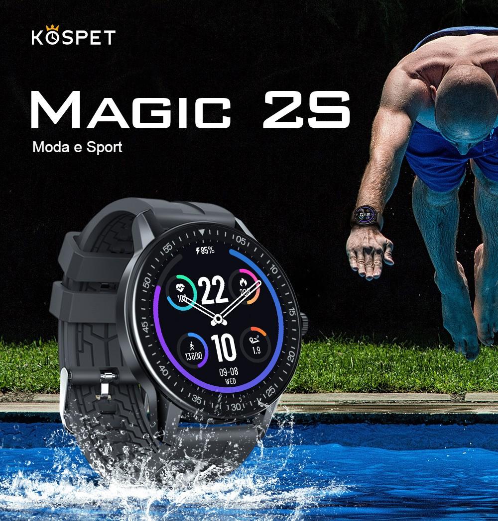 Kospet Magic 2S, poco più di 20 euro per un super smartartwatch elegante e anche sportivo