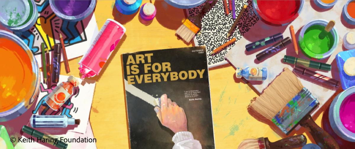 Adobe ricrea in digitale pennelli e strumenti di Keith Haring