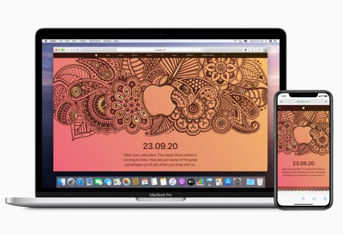 Apple Store online apre in India il 23 settembre