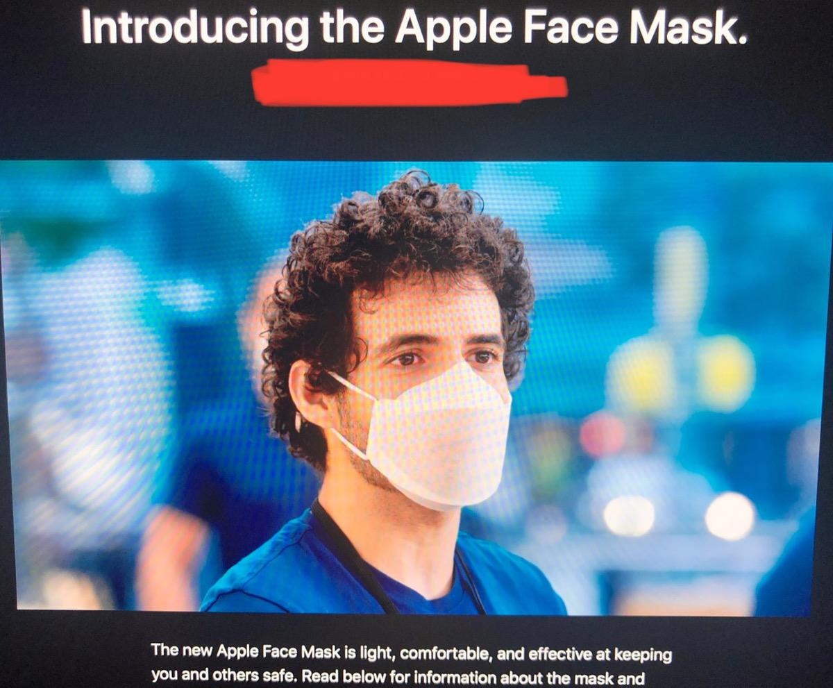 Apple Face Mask è la mascherina anti Covid-19 disegnata da Apple
