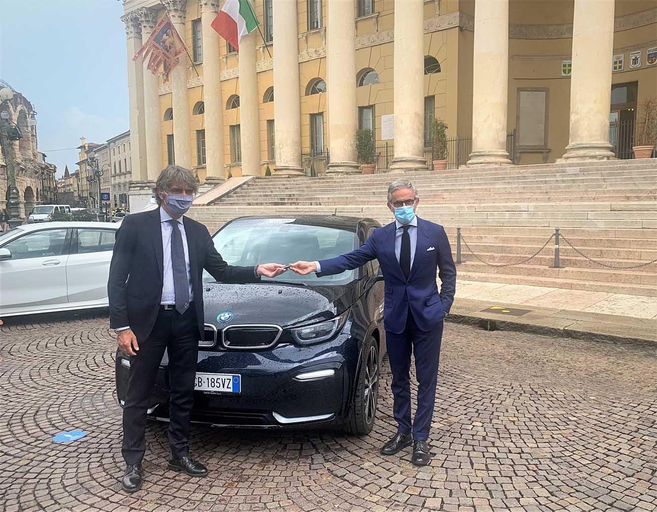 BMW, due vetture al Comune di Verona per la mobilità sostenibile