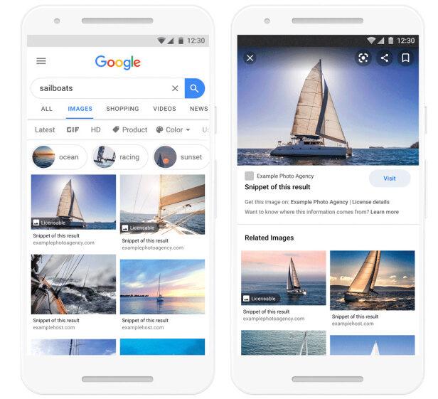 google licenza immagini