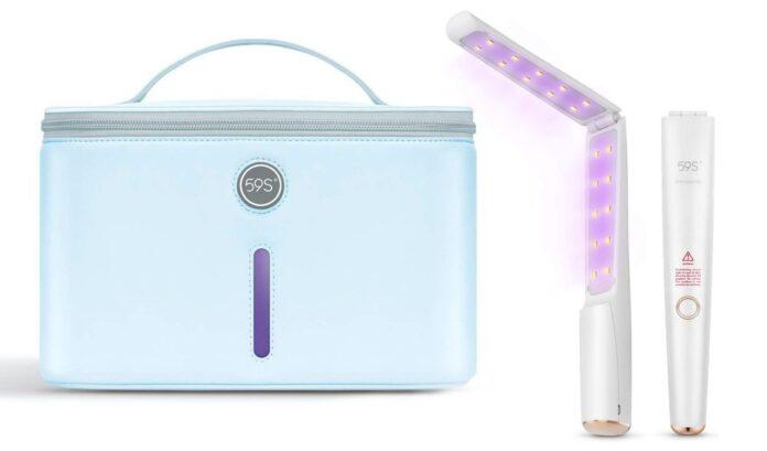 Sanificare oggetti con i raggi UV-C: la prova della borsa e della bacchetta di 59s