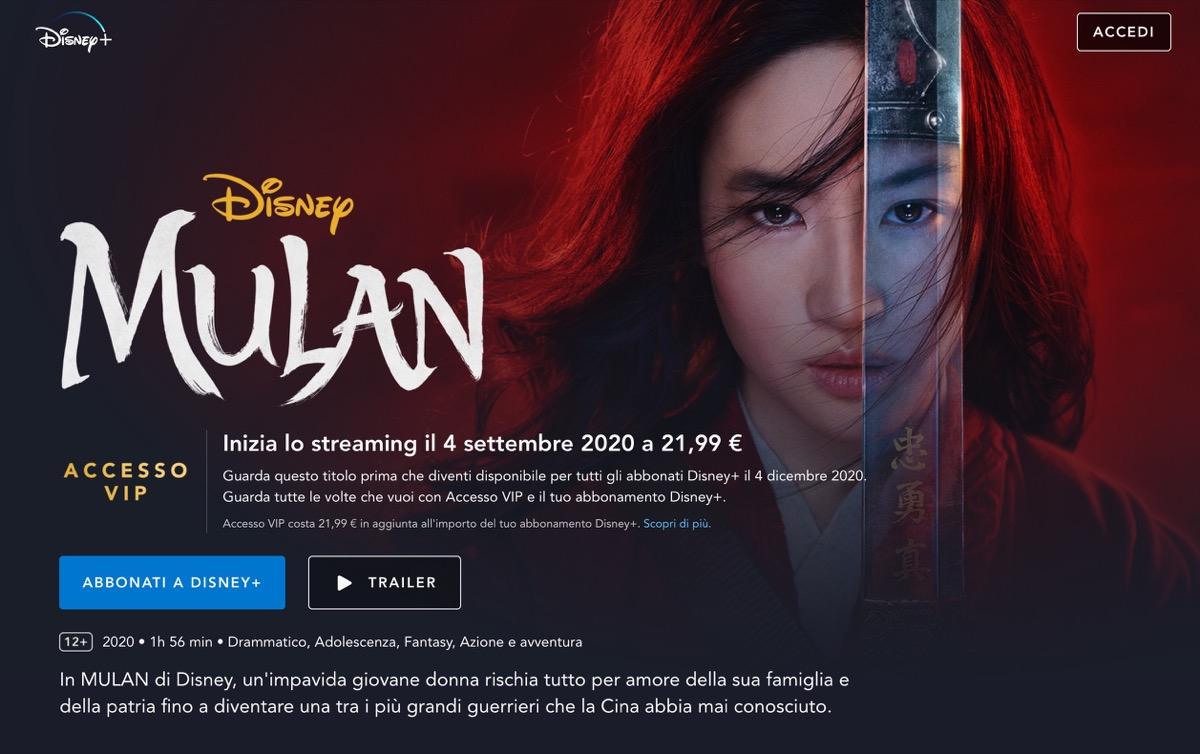 Disney sceglie il giorno di lancio di Mulan per chi non vuole pagare il bigli